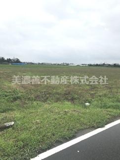 【前面道路含む現地写真】55262 海津市平田町西島土地