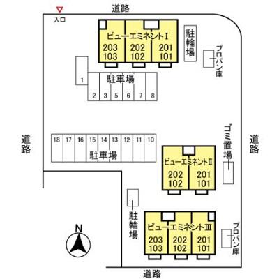 【区画図】ビュー・エミネント Ⅱ