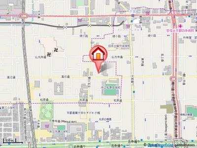 【地図】ウインドベル四条大宮