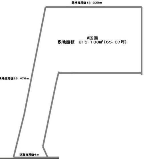 【土地図】仲介手数料無料 三鷹市下連雀2丁目 建築条件なし売地