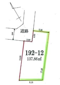 千葉市中央区大森町 土地 蘇我駅 広さ約40坪。カースペースも確保できます。