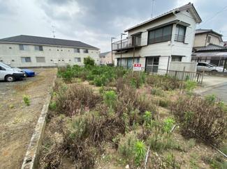 千葉市中央区大森町 土地 蘇我駅 後ろが駐車場で、建物が無いため、日当たり良好です。