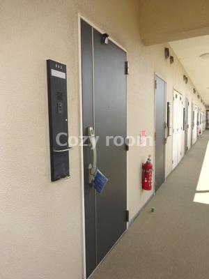 落ち着いた玄関及び共有廊下です