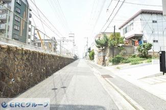 【前面道路含む現地写真】灘区篠原中町 新築一戸建て