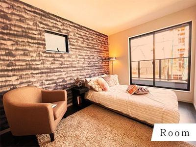 主寝室は二人の時間を大切にできるようにゆったりとした空間を演出♪