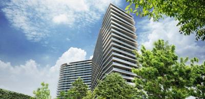 街の新たな景観として輝きを放つ23階建てのスタイリッシュなデザイン