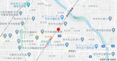 【地図】D-room茨木