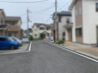 【前面道路含む現地写真】大津市あかね町18-5 中古戸建