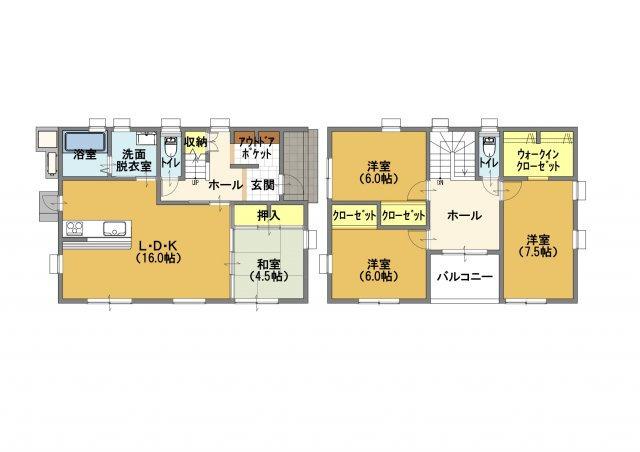 ■土地面積:204.71㎡(61.92坪)、建物面積:108.47㎡(32.81坪)