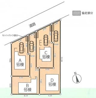 【区画図】横浜市鶴見区北寺尾4丁目24A 新築戸建て