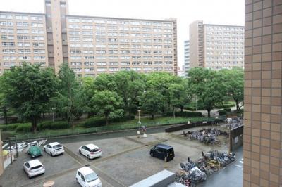 南側の眺望 敷地内に公園があり、北区の中でも緑豊かな住環境です。
