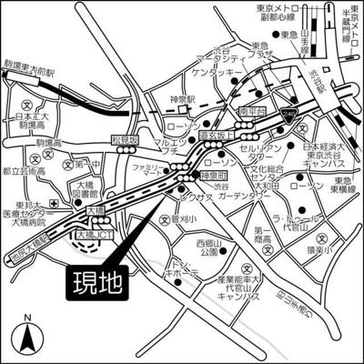 【地図】青葉台タワー