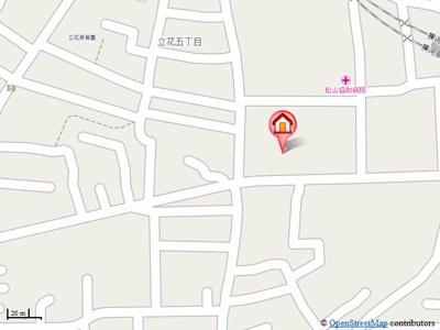 【地図】セントラルハイム弐番館・
