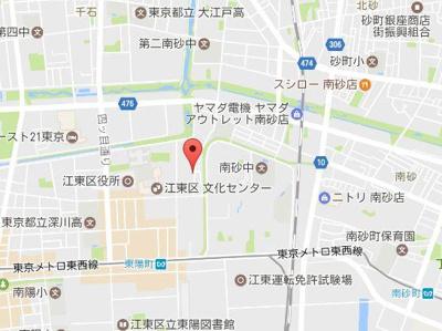 【地図】グランドセダー東陽町