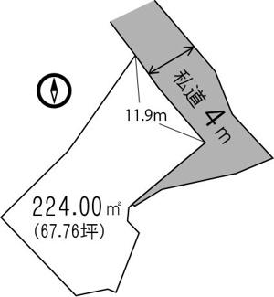 【土地図】鴨川市花房土地