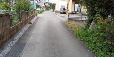 【前面道路含む現地写真】藤岡市上栗須の土地