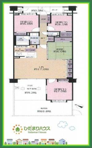 上尾市緑丘2丁目 中古マンション コスモ上尾カルディアコート