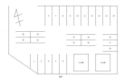 【区画図】台坂橋駐車場