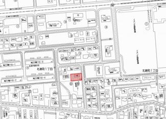 【地図】北進町1丁目 中古戸建