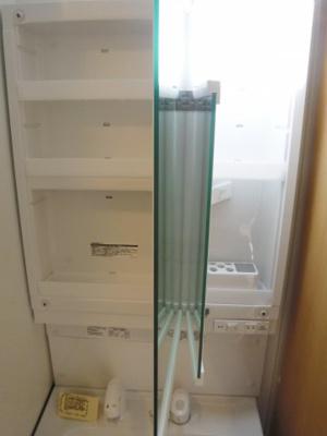 独立洗面台収納