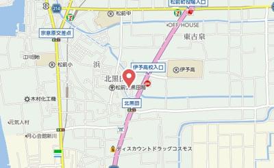 【地図】アークハイツ