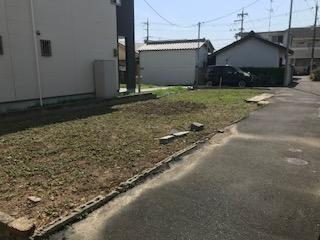 【前面道路含む現地写真】中垣内2丁目土地