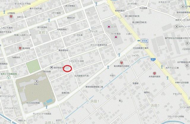 【地図】浜田1丁目中古一戸建