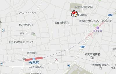【地図】ヴィアロ練馬桜台レジデンス(59428-106)