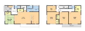 君津市南子安3丁目 新築一戸建て 君津駅 4LDKS全部屋南向き!一階にはファミリークローゼット・二階には納戸あり。お子様の成長に十分対応可能な収納力です!