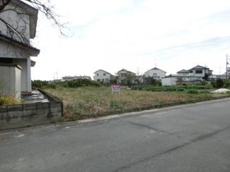 【前面道路含む現地写真】鴻巣市袋の土地【No.10374】