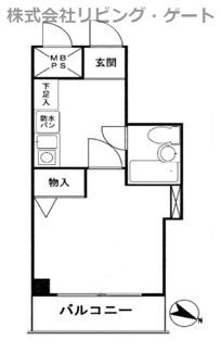 19.95平米 キッチン廻りが広めです。