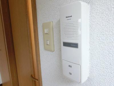 ドアホンがあるのでセキュリティ面も安心です!
