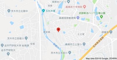 【地図】メゾン塚原1 (株)Roots