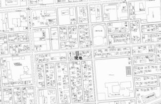 【地図】中央三輪9丁目 売土地