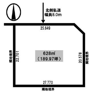 【土地図】網走市呼人 売土地