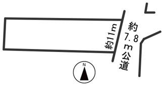 【区画図】55324 岐阜市須賀土地