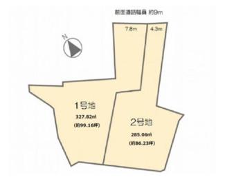 【土地図】野洲市久野部 1号地 売土地