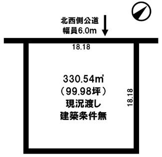 【土地図】留辺蘂町旭3区 売土地