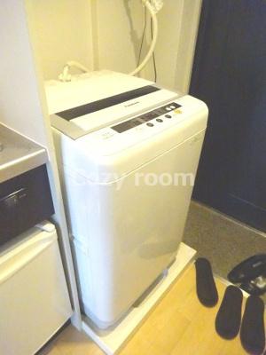 洗濯機付きなので助かりますね(^-^)
