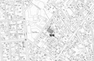 【地図】三楽町 中古戸建