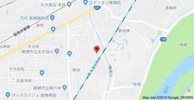【地図】ハイツファミールB棟