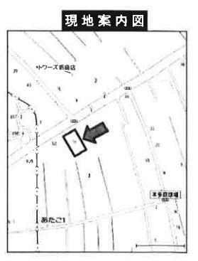 【地図】新座市あたご1丁目 更地