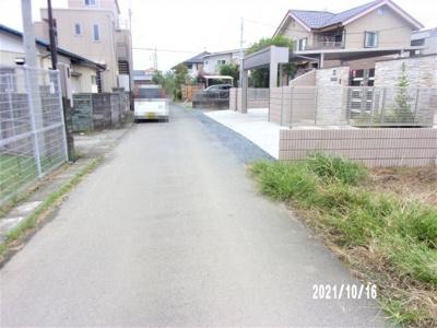 【前面道路含む現地写真】深谷市長在家 700万 土地