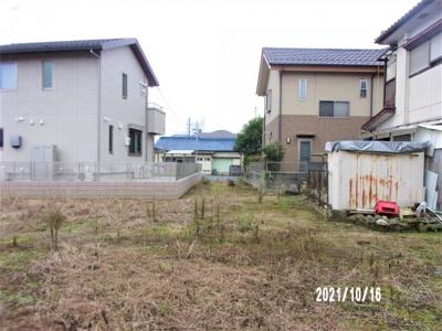 【前面道路含む現地写真】深谷市長在家 800万 土地