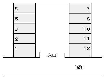 【区画図】散田町2丁目駐車場