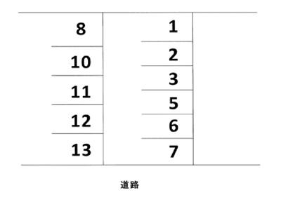 【区画図】瀬沼駐車場