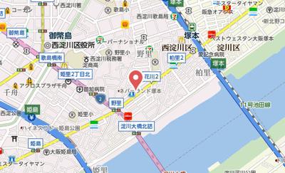 【地図】リーガル塚本2