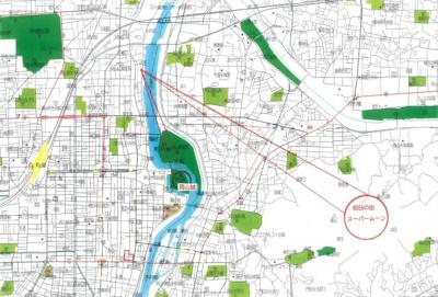 【地図】岡山市北区兵団 3階建
