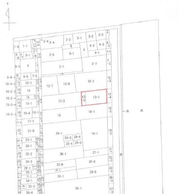 【区画図】岡山市北区兵団 3階建