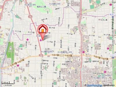 【地図】レジデンスプリムローズ